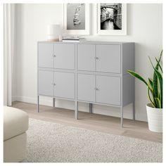 LIXHULT Storage combination - IKEA Ikea Storage, Storage Cabinets, Locker Storage, Ikea Cabinets, Hallway Storage, Living Room Storage, Storage Spaces, Home Living Room, Living Room Decor
