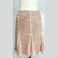 BCBGMaxAzria Boho skirt in gorgeous pinks! Stunning and unique, boho and classy with side sip closure BCBGMaxAzria Skirts Midi