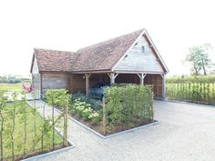 oak dreams, carport in oak, poolhouse oak, eiken garage, in eik, eiken bijgebouw, overdekt terras