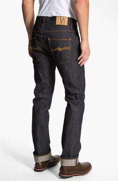 Nudie 'Hank Rey' Straight Leg Jeans (Dry Selvedge) available at #Nordstrom