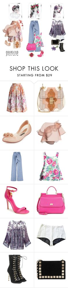 """""""Floral III"""" by valentina-jerkovic on Polyvore featuring Chicwish, Chloé, Melissa, Marc Jacobs, MSGM, Sans Souci, Alexander McQueen, Dolce&Gabbana, Étoile Isabel Marant and Balmain"""
