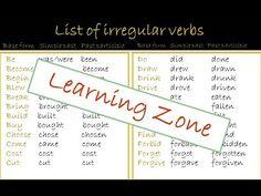 Regular and irregular verbs in english #regular  #irregular  #verbs #english