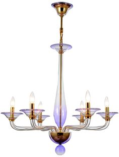 Crystorama Stella Six Light Chandelier 9926-GD-AM