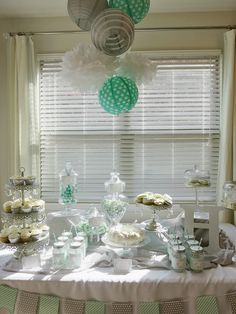 Nissa-Lynn Interiors and Decor: Baby Shower Bliss! I chose a monogramed letter H to be the theme, with mint green, gray, and white to be the color scheme.