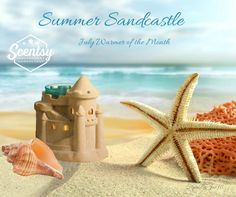 Scentsy Summer Sandcastle July 2017 Warmer of the Month