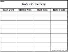 Magic E Featuring Long A Vowel