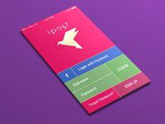 Login Screen Postcard App by Yasser Achachi