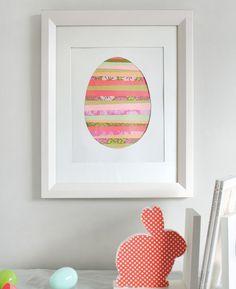 Paper strip Easter egg art DIY tutorial from Minted