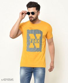 Tshirts Men's  Printed Tshirt Fabric: Cotton Sleeve Length: Short Sleeves Pattern: Printed Multipack: 1 Sizes: XL (Chest Size: 40 in Length Size: 29 in)  L (Chest Size: 38 in Length Size: 28 in)  M (Chest Size: 36 in Length Size: 27 in) Country of Origin: India Sizes Available: M, L, XL   Catalog Rating: ★4.2 (441)  Catalog Name: Comfy Glamorous Men Tshirts CatalogID_1070551 C70-SC1205 Code: 112-6715545-234