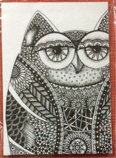 Free: Zentangle Owl - MAGNET - Other Art - Listia.com Auctions for Free Stuff