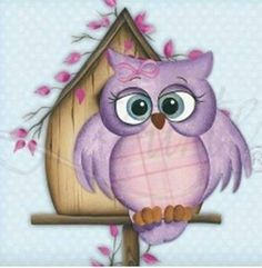 would be cute for a little girls room Decoupage, Owl Pictures, Owl Always Love You, Owl Crafts, Country Paintings, Wise Owl, Owl Bird, Tole Painting, Painting Patterns