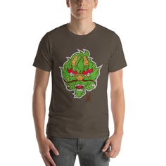 The Punisher Forest Background Graphic Short-Sleeve T-Shirt Blank T Shirts, Tee Shirts, Amazing Frog, Forest Background, Cartoon T Shirts, Punisher, Fabric Weights, Female Models, Graphic Tees