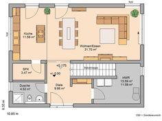 Aktionshaus Akzento Grundriss EG | planos | Pinterest | House ...