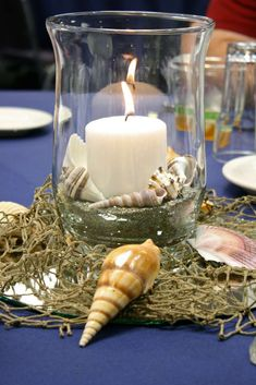 The Argument About Nautical Theme Party Centerpieces Decor Ideas Not to mention it may be used later as a decoration in your residence! Needless to sa. Nautical Centerpiece, Nautical Table, Nautical Party, Party Centerpieces, Nautical Wedding, Homemade Centerpieces, Retirement Parties, Birthday Parties, 60th Birthday