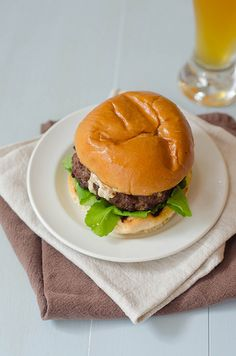 Pink Parsley: Blue Cheese-Stuffed Hamburgers