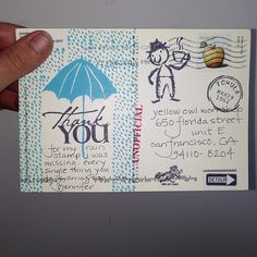 Best fan mail using our rain stamp from a lovely lady.