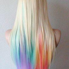 The Hidden Rainbow Hair Means You Can Have Coloured Hair For Work,  #Coloured #Hair #hidden #means #rainbow #underlightshairwhite #Work