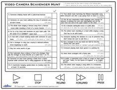 Printable Video Scavenger Hunt