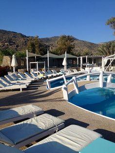 * Farout Beach Hotel pool in Ios, Greece | Sara Russell Interiors