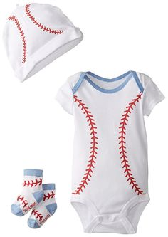 3 PC Infant Baby Baseball Sport Outfit Onesie SET