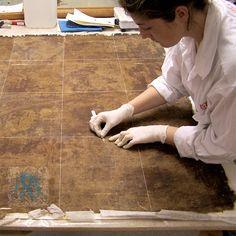 Enclave de arte y restauración: restauracion pintura caballete LIMPIEZA MECANICADEL SOPORTE