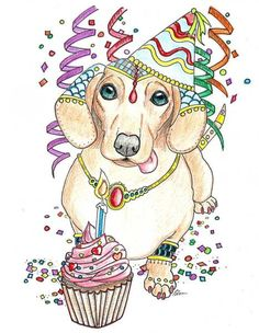 Online gallery of Eddy Delacruz featuring coloring book illustrations, pet portraits in acrylics and watercolors. Original creator of the Art of Dachshund Coloring Books and Art of Pug Coloring Books, Art of Pibble Coloring Books, Art of Yorkie Coloring B Dapple Dachshund Puppy, Dachshund Puppies For Sale, Dachshund Gifts, Dachshund Love, Dachshund Quotes, Daschund, Miniature Dachshund Breeders, Happy Birthday Dachshund, Pets