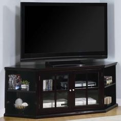 Coaster Fullerton Transitional Corner Media Unit with Doors (28.805 RUB) ❤ liked on Polyvore featuring home, furniture, storage & shelves, entertainment units, chocolate, 2 tier shelf, coaster furniture, door shelf, two tier shelf and door shelving