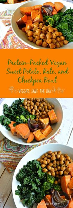Wednesday: Protein-Packed Vegan Sweet Potato, Kale, and Chickpea Bowl