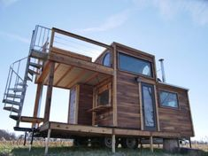 Honey on the Rock Tiny House on Wheels by Carpenter Owl