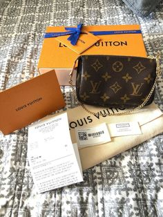 63e239050796 Authentic Louis Vuitton Mini Pochette Sold Out Monogram New With Gift  Receipt  fashion  clothing  shoes  accessories  womensbagshandbags (ebay  link)