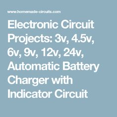 Simple 555 timer circuits projects electronic circuit projects 3v 45v 6v 9v 12v 24v sciox Image collections