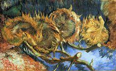 Vincent van Gogh, Still Life With Sunflowers,1887 on ArtStack #vincent-van-gogh #art
