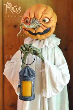 Guest Artist Scott Smith – Rucus Studio – Art Dolls Only - Real Time - Diet, Exercise, Fitness, Finance You for Healthy articles ideas Halloween Doll, Holidays Halloween, Vintage Halloween, Halloween Pumpkins, Halloween Crafts, Happy Halloween, Samhain, Pumpkin Art, Handmade Art
