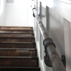 Eclectic Staircase Industrial Railing