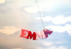 Name banner felt girl Felt letter Alphabet by PrettyFeltThings