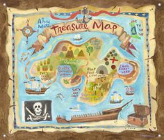 Free Printable Treasure Map Invitations