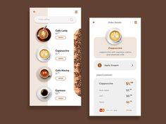 coffee app design - Google Search Mocha, App Design, Espresso, Latte, Milk, How To Apply, Snacks, Coffee, Google Search