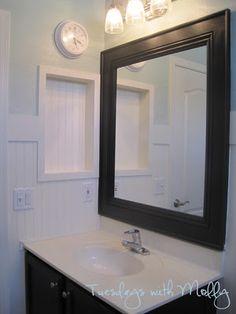 The Vagabond Homemaker DIY Bathroom Mirror Makeover Like This Option
