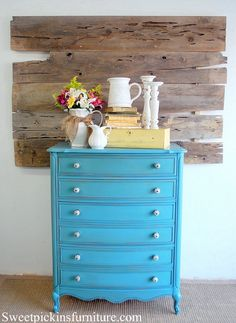 cute before and after vintage dresser