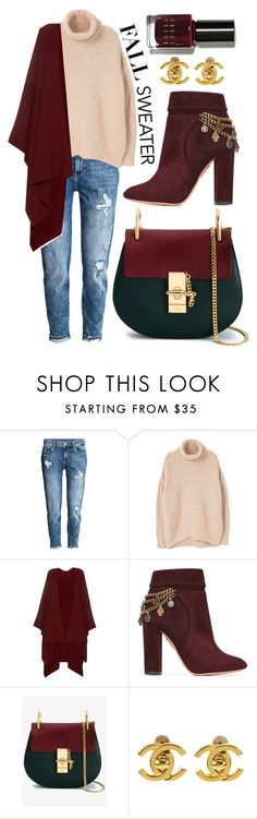 """fall sweaters"" by whyfashionblog on Polyvore featuring moda, H&M, MANGO, The Row, Aquazzura, Chloé, Chanel, Bobbi Brown Cosmetics e fallsweaters"