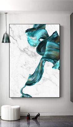 Abstract Marble Print, Wall Art Prints, Turquoise Marble Print, Modern Abstract Art, Turquoise Home – SkillOfKing. Contemporary Abstract Art, Modern Art, Art Turquoise, Acrylic Pouring Art, Marble Art, Resin Art, Painting Inspiration, Wall Art Prints, Canvas Art