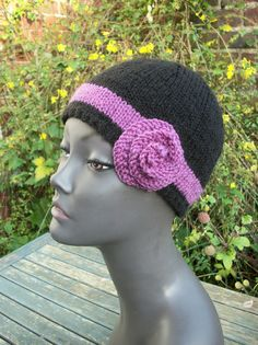 Flapper Hat With Band Rose Trim - Choose Colour, £12.99