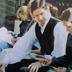 Richard running lines with Daniela Denby-Ashe. Can I just add, how awesome is it that this is how he acts even off camera? GAHH!! I just LOVE HIM.
