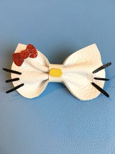 Hello Kitty Bow Genuine Leather Clip Or headband от KerleyGirls