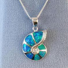 Blue #Opal Ammonite Necklace - #Necklace AlphaVariable.com #Ammonite #Fossil #Mermaid ##MermaidJewelry #Jewelry #Ocean #Sea #Water #Beach #Boho #Bohemian #Spiral #Crystals Boho Jewelry, Sterling Silver Jewelry, Gemstone Jewelry, Jewelry Necklaces, Jewelry Design, Mermaid Jewelry, Ammonite, Blue Opal, Blue Velvet