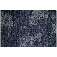 Rugs America Hudson Patch Floral Rug ($350) ❤ liked on Polyvore featuring home, rugs, blue, flora rug, rugs america, patterned rugs, patterned area rugs and floral area rugs
