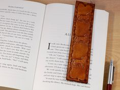 Easily find the page! This stylish Wolf bookmark could make a really practical gift which will be treasured for years. This detailed leather bookmark is handmade from premium quality leather and has a hand tooled border and hand stamped wolves / coyotes. Leather Gifts, Leather Books, Leather Anniversary Gift, Anniversary Gifts, Gifts For Husband, Fathers Day Gifts, Wolf Book, Leather Tooling, Tooled Leather