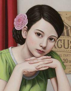 Portrait of girl [detail] -- by Shiori Matsumoto, Japanese