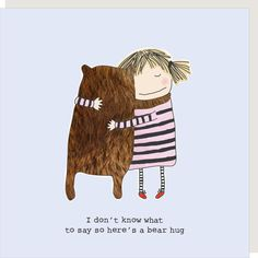 Rosie Made A Thing Bear Hug Greeting Card, Send A Thoughtful Greeting Card From Kate's Award-Winning Rosie Made A Thing Gin & Frolics Range Birthday Greetings, Birthday Wishes, Birthday Cards, Birthday Hug, Birthday Messages, Funny Greeting Cards, Funny Cards, Hugs, Hug Quotes