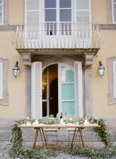 Al fresco reception in Lucca Tuscany.   by Peter and Veronika